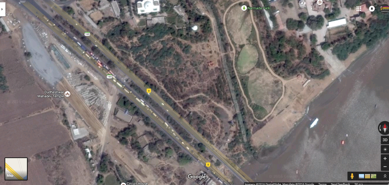 Bharuch-Ankleshwar traffic also visible  from space