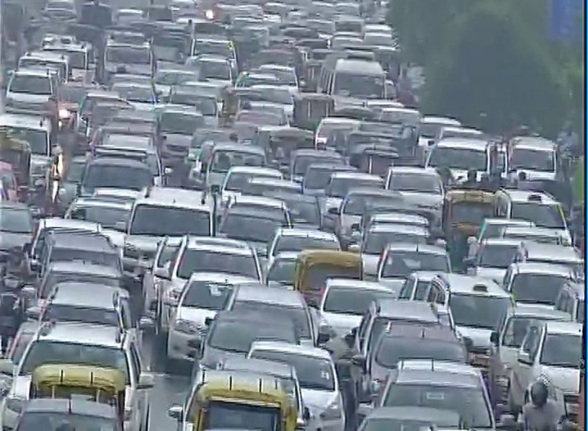 delhi jaipur nh.8 traffic jam