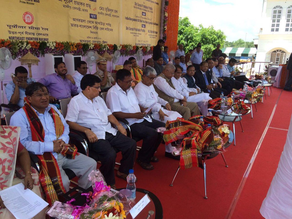 Foundation stone laid for India-Bangladesh new rail project