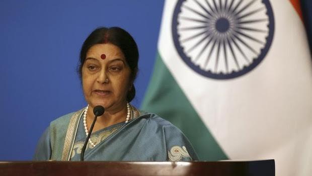 Sushma Swaraj arrives in New York for UNGA meet