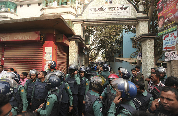 Female militant blows herself up during Dhaka raid
