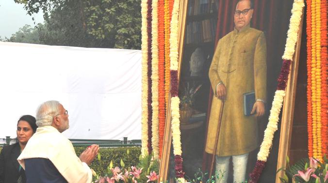 Modi pays tribute to Babasaheb Ambedkar on death anniversary