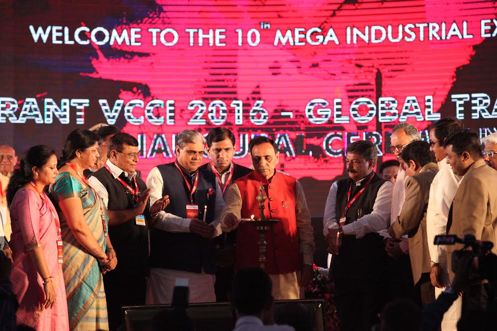 CM Vijay Rupani inaugurated the 10th VCCI Global Trade Show in Vadodara