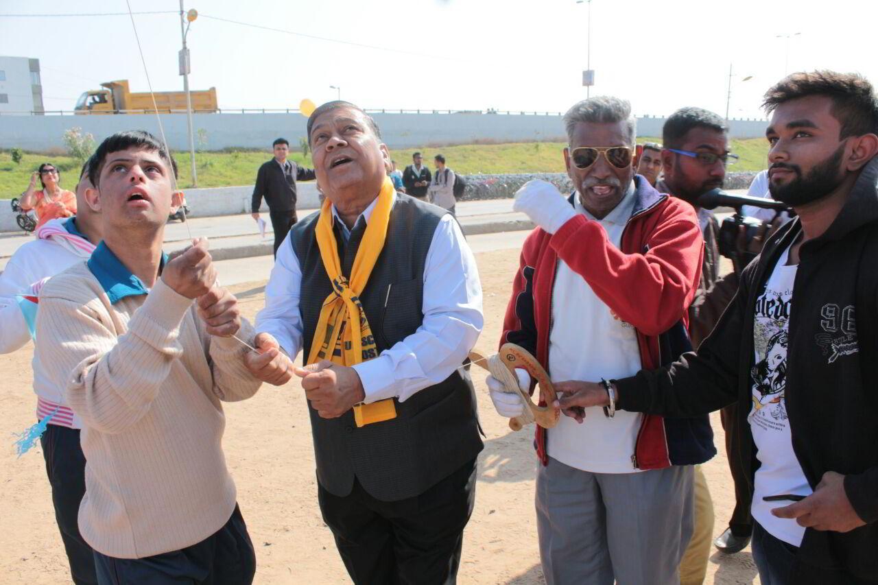 Divyang children celebrates kite festival