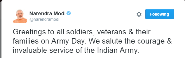 Modi tweeted
