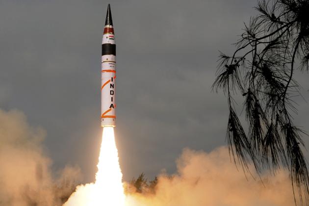 nuclear-capable ballistic missile Agni V