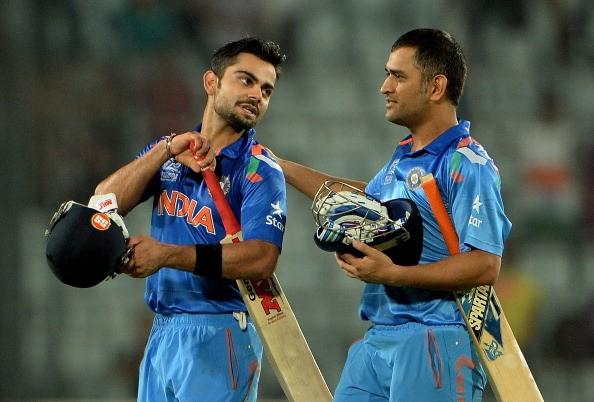 Kohli and Mahendra Singh Dhoni
