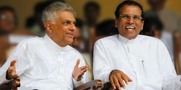 President Maithripala Sirisena, and Prime Minister Ranil Wickremesinghe