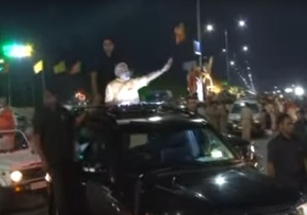 PM Modi's Road Show in Surat, Gujarat