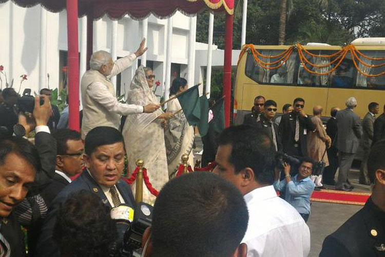 Two rail, road connectivity projects inaugurated by PM Modi & Sheikh Hasina
