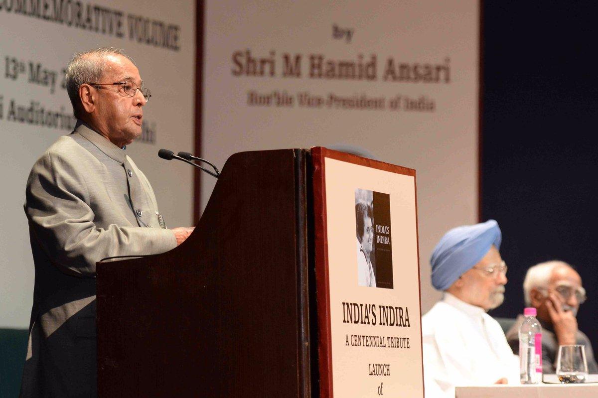Indira most acceptable PM even today: Pranab Mukherjee