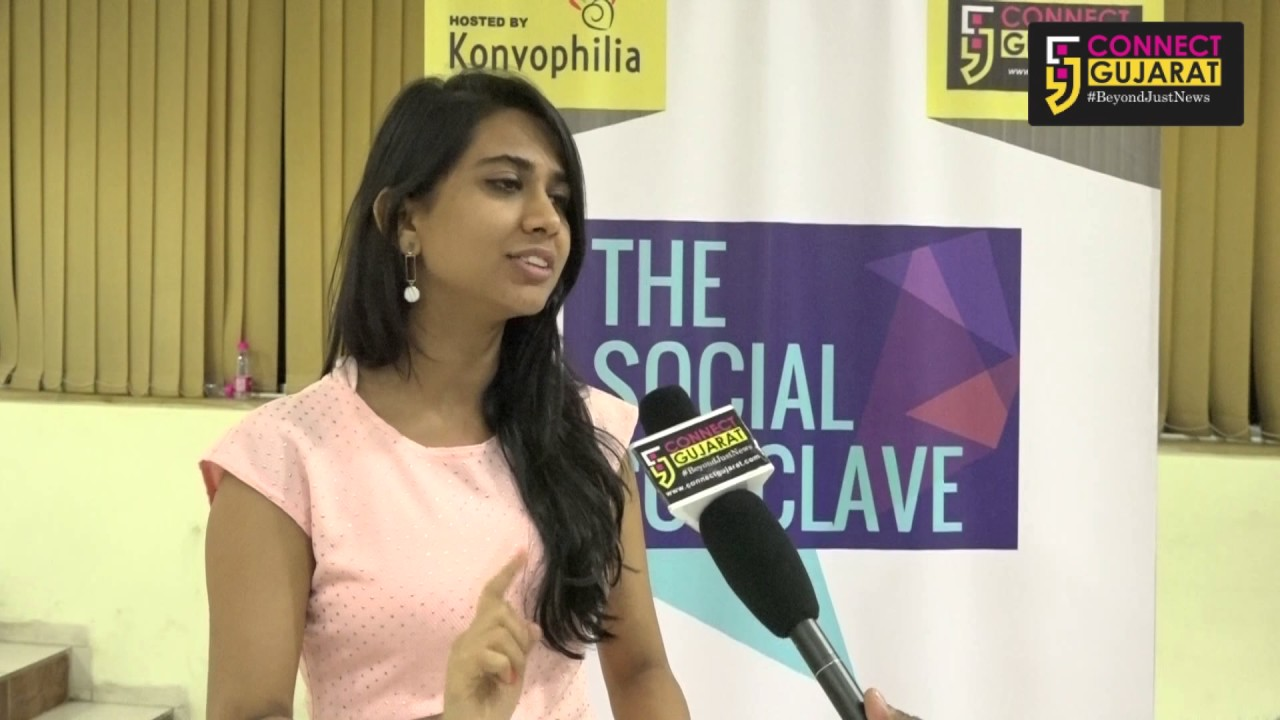 Shivani Shahs Interview with Connect Gujarat at #TSC2017 on World Social Media Day