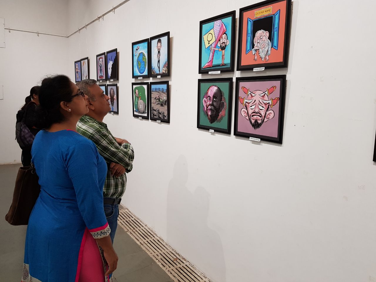 A unique exhibition of cartoon selfie in Vadodara