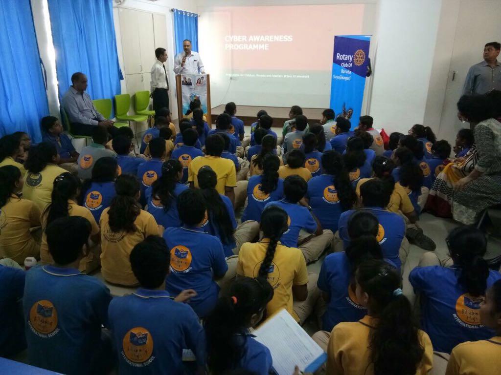 Cyber crime awareness in school by Vadodara police