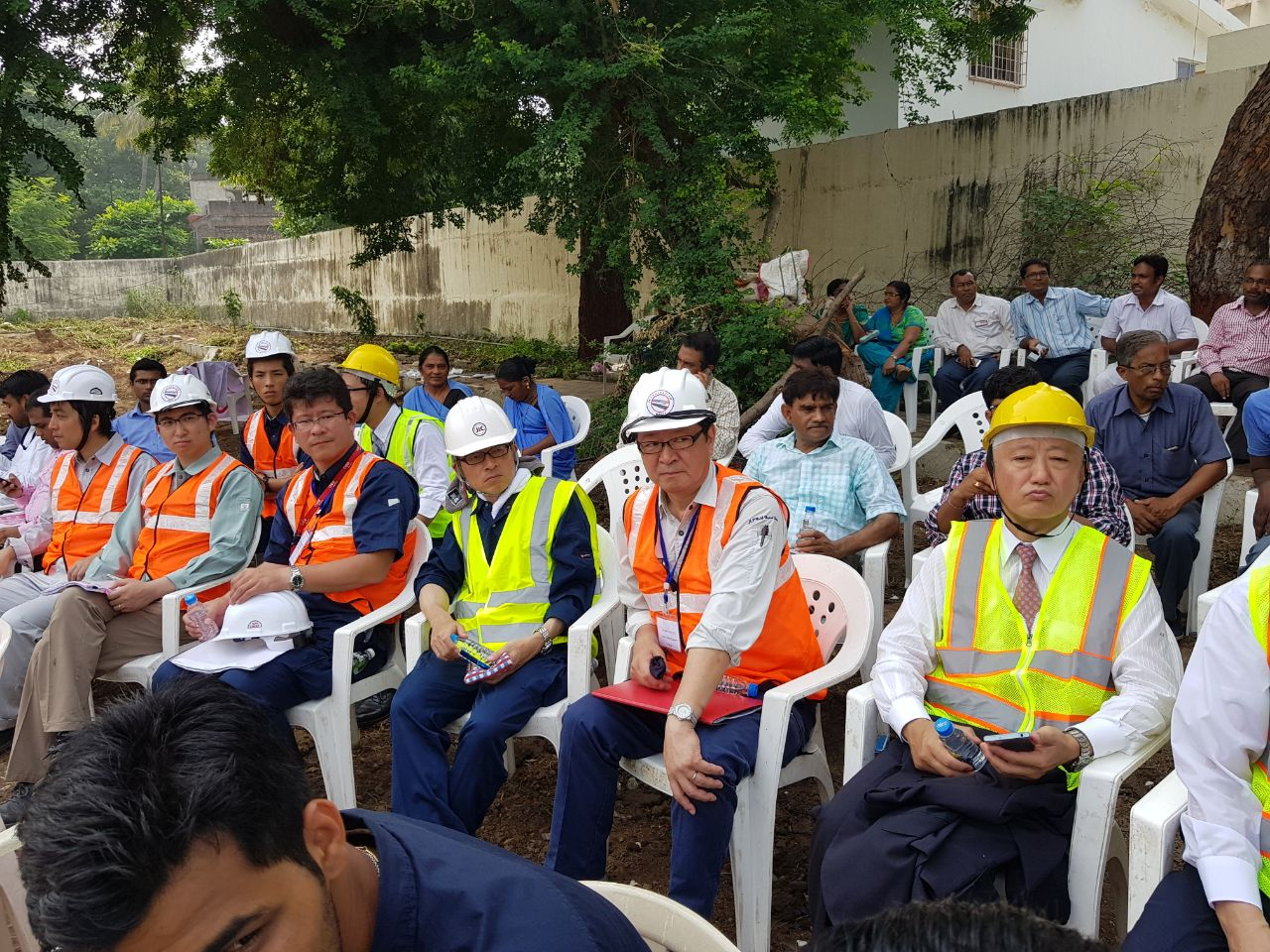 Foundation laying ceremony of high speed training institute in Vadodara