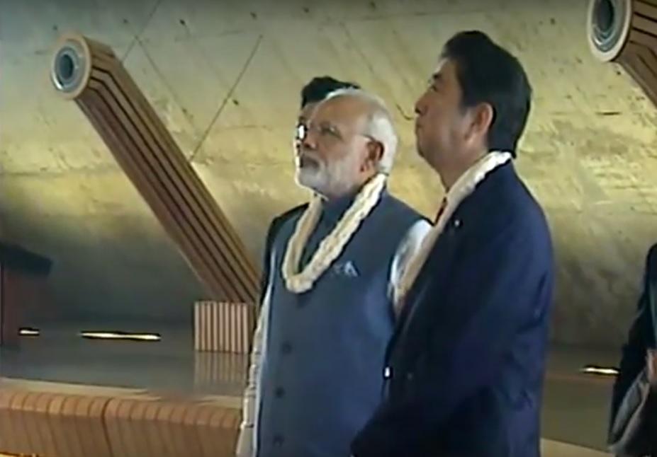 LIVE: PM Modi & Japanese PM Shinzo Abe visits Dandi Kutir