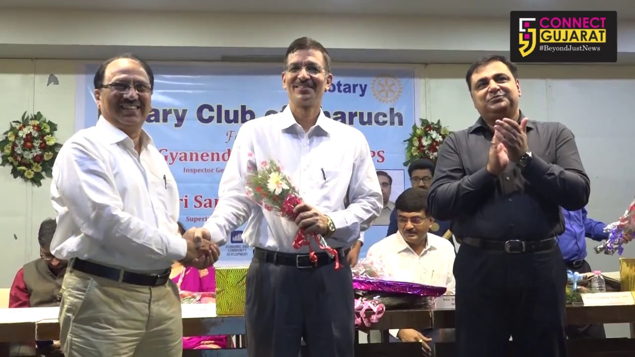 Top Cops Felicitated by Rotary Club of Bharuch