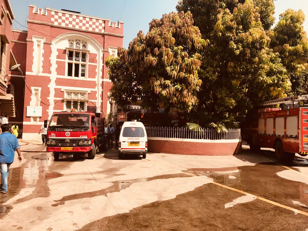 Important documents engulfed in fire inside record department at collector office