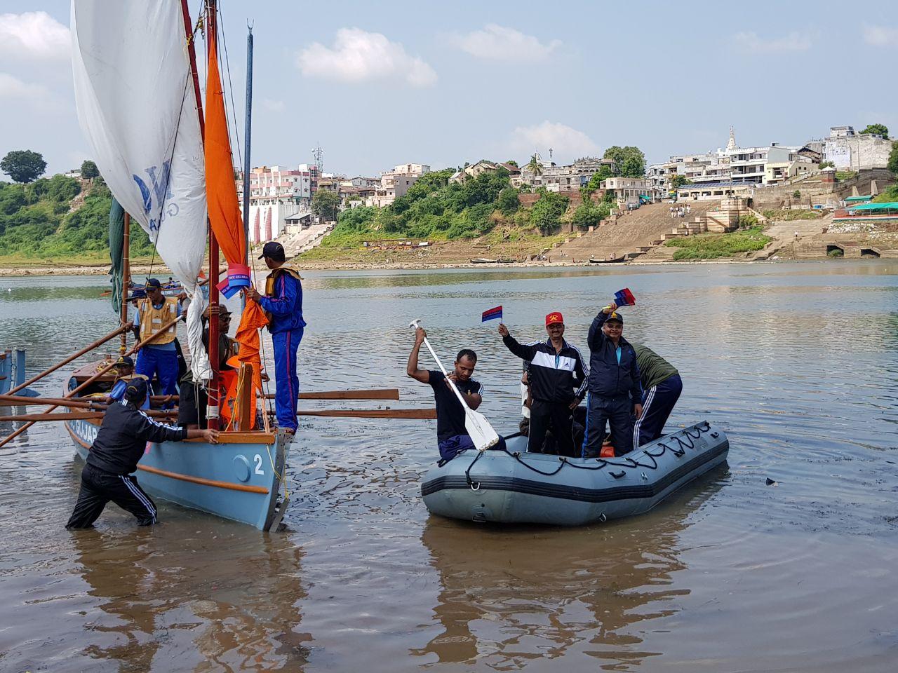 Sailing expedition by NCC cadets to commemorate Narmada Mahotsav