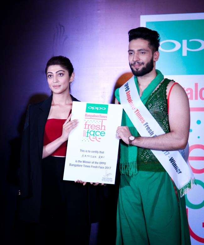 Anchal NG & Kanishk Rai wins the OPPO Times Fresh Face in the Bengaluru city finale