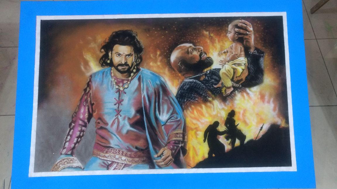 Rangoli exhibition of students from non artistic background