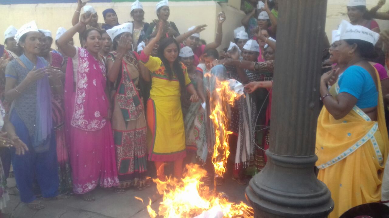 Asha workers protest turns violent