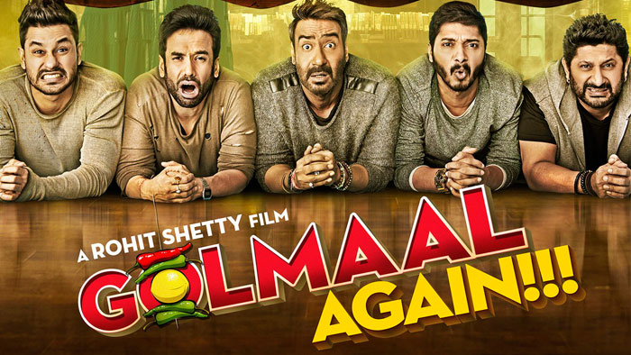 Before 'release' Golmaal again broke the record of SRK's Rais