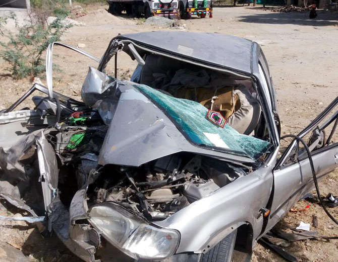 Five members of Vadodara family died in road accident in Rajasthan