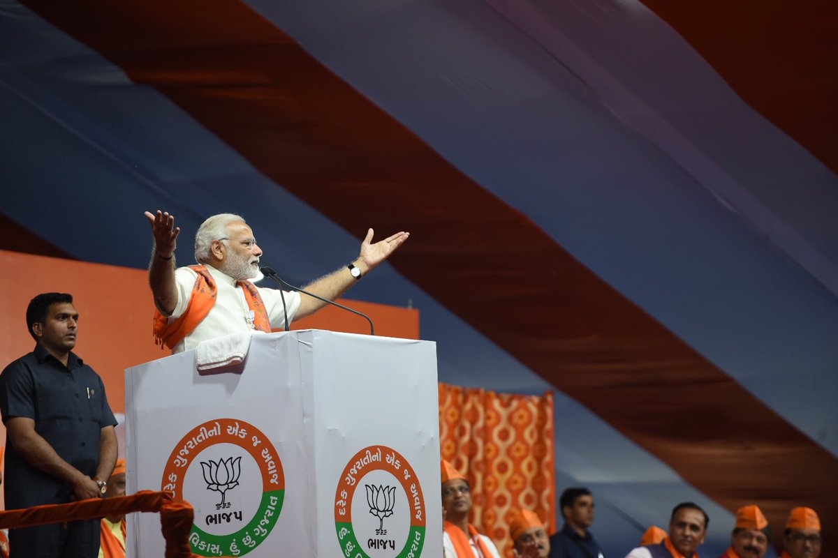 I will be happy when BJP will win in every polling booth in Gujarat ; Modi