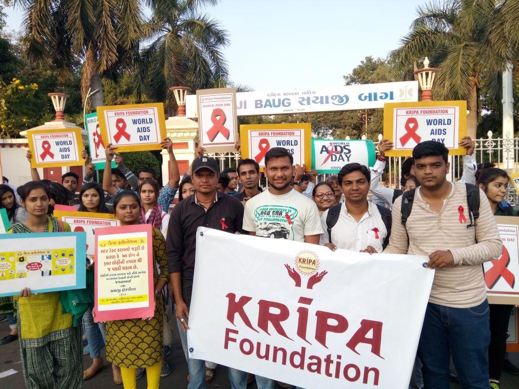 Kripa foundation celebrate World AIDS Day in Vadodara