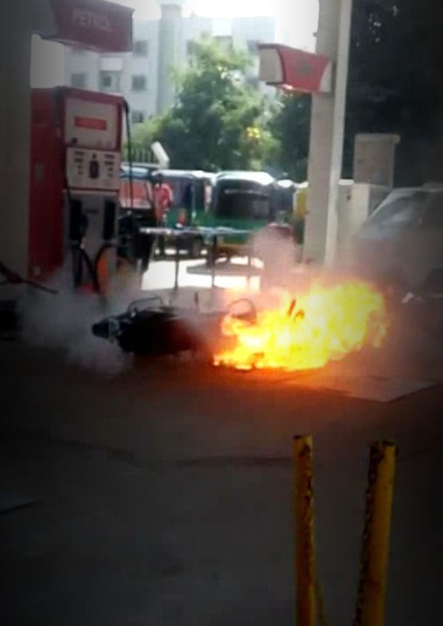Fire in bike