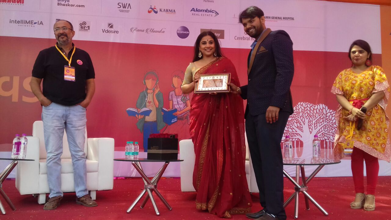 Vidya Balan at her best in Gujarat Literature Festival