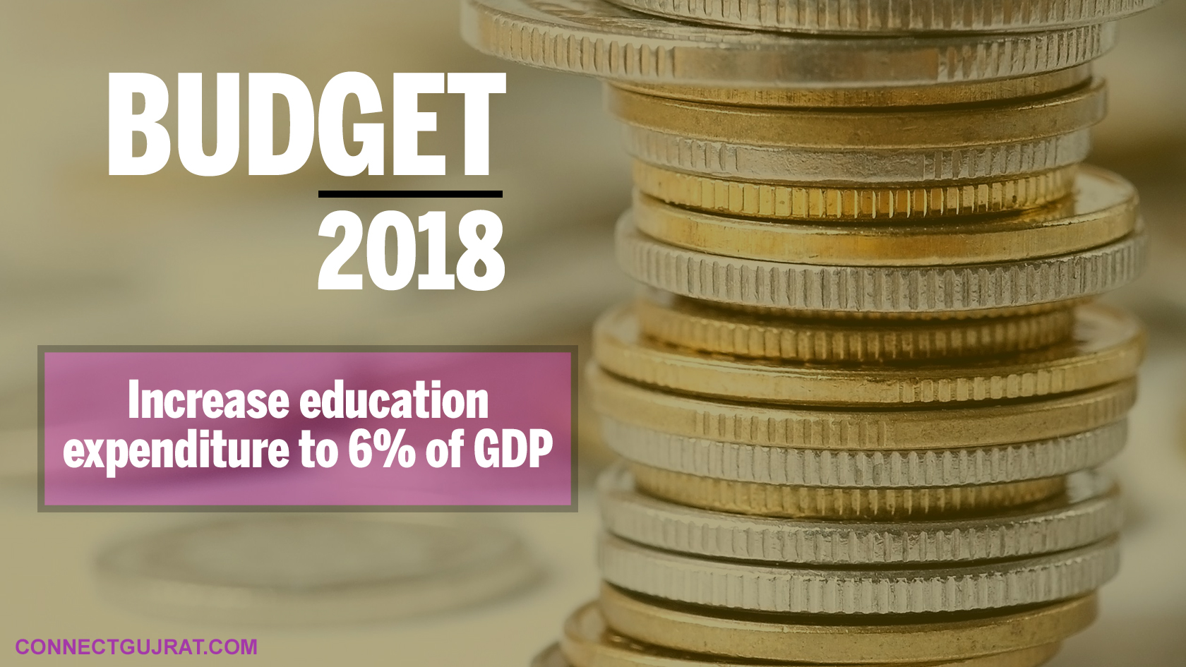 Budget 2018: Increase education expenditure to 6% of GDP