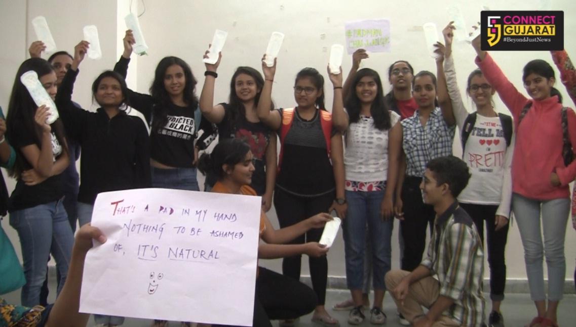 MSU students accepts the Padman challenge