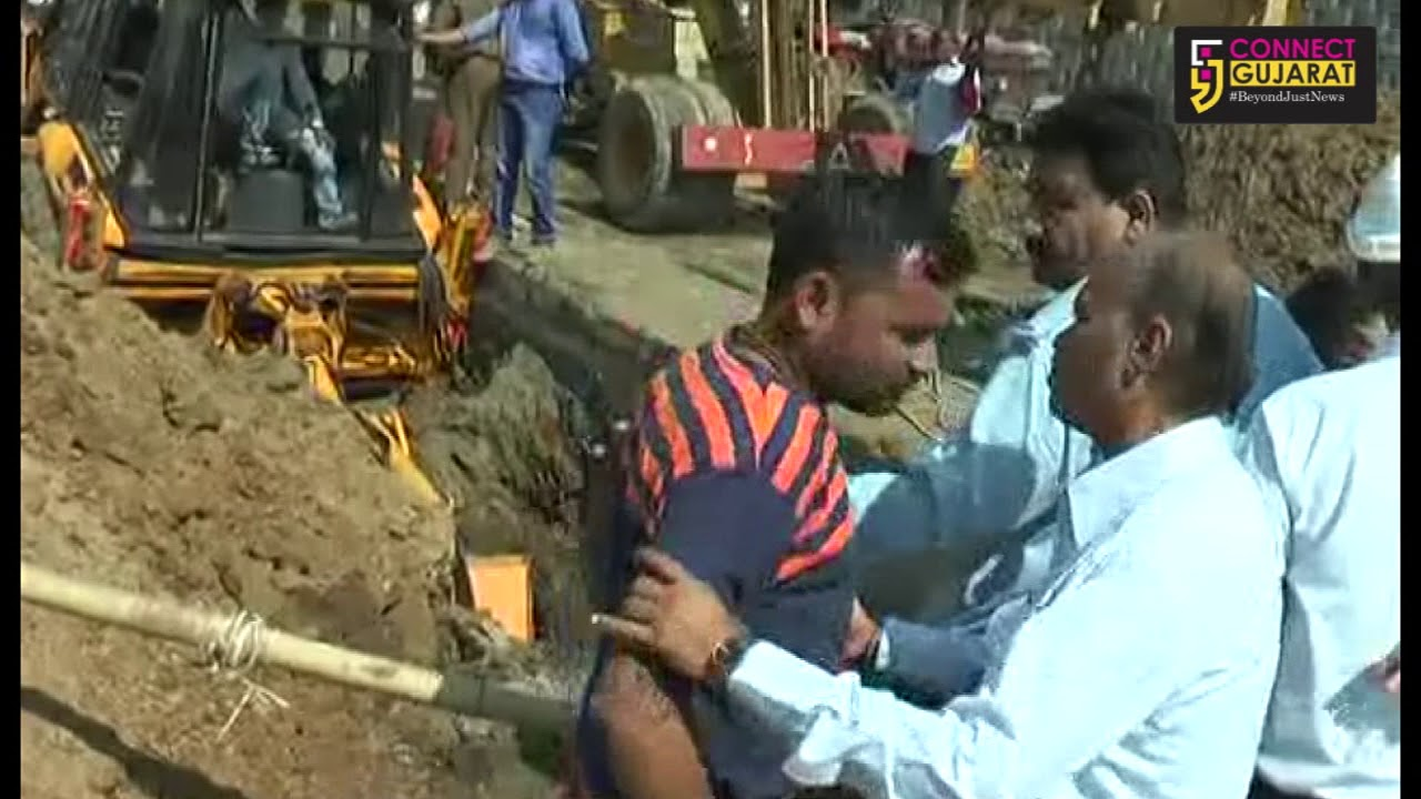 Three workers rescued after trapped inside while repairing leakage in water pipeline