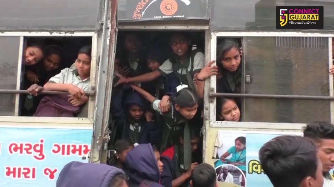 Students risk life to reach school in Naswadi
