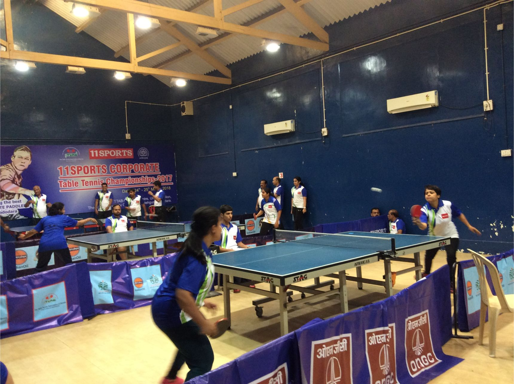 First Day of 11SPORTS Corporate Table Tennis Championships in Vadodara