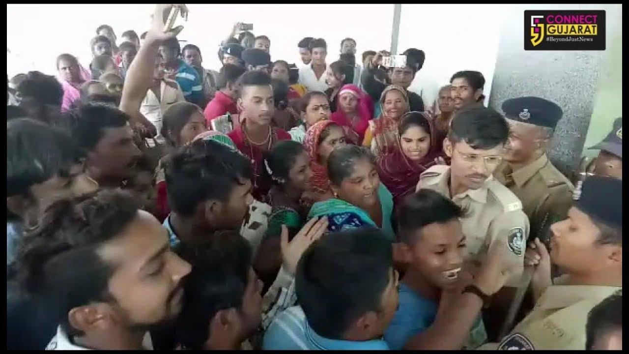 Relocated Sanjay Nagar slum dwellers resorted to heavy stone pelting demanding unpaid monthly rental