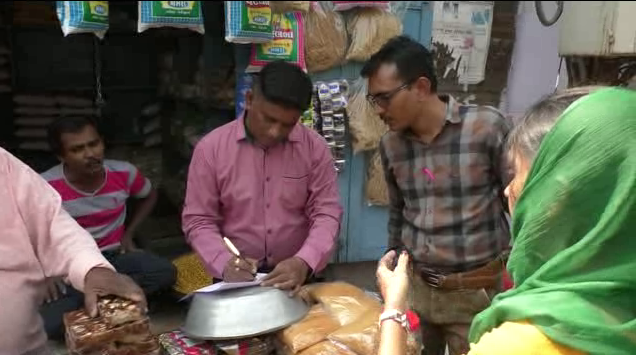 VMSS health department checking at shops selling Holi related food products
