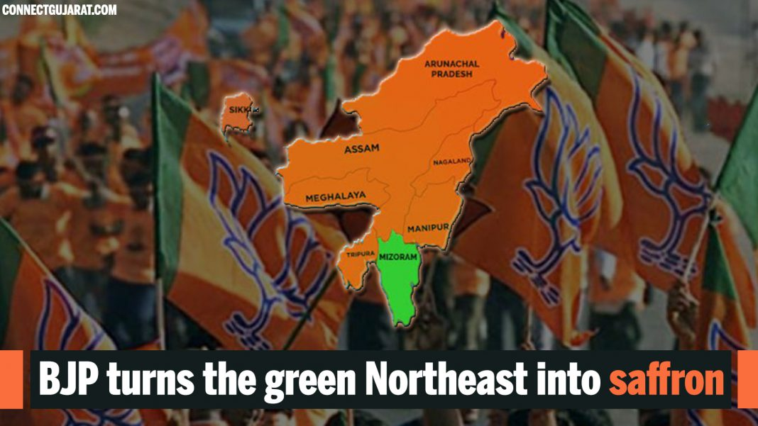 BJP turns the green Northeast into saffron