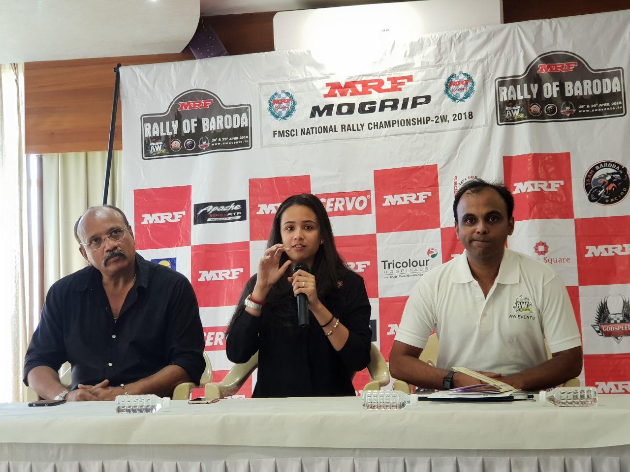 MRF 2W rally 2018 kickstarts from Vadodara