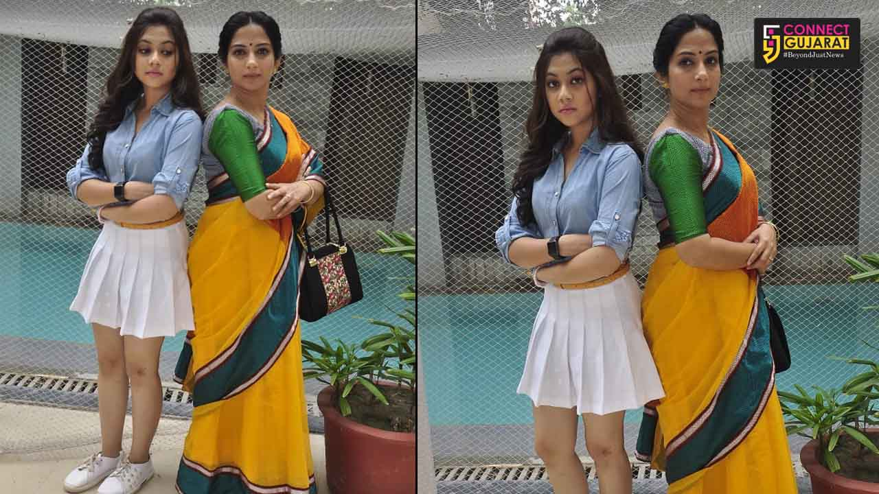 Actors Poorva Gokhale and Reem Sheikh visited Ahmedabad to promote the show Tujhse Hai Raabta