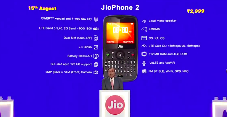 JioPhone2 Debuts on Jio.com