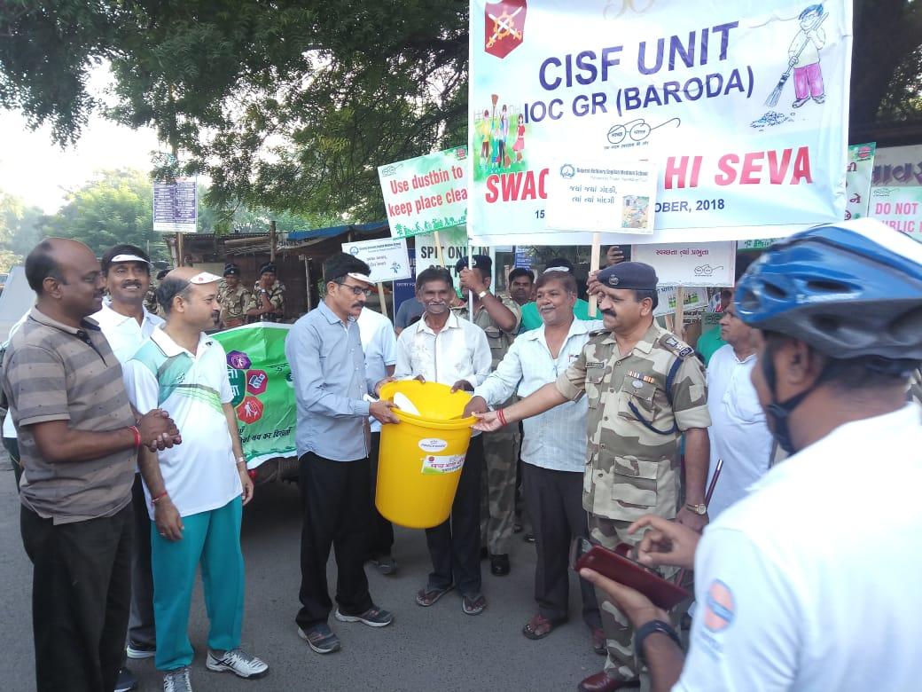 CISF Unit Gujarat Refinery organised programme on the occasion of Swachhta hi sewa