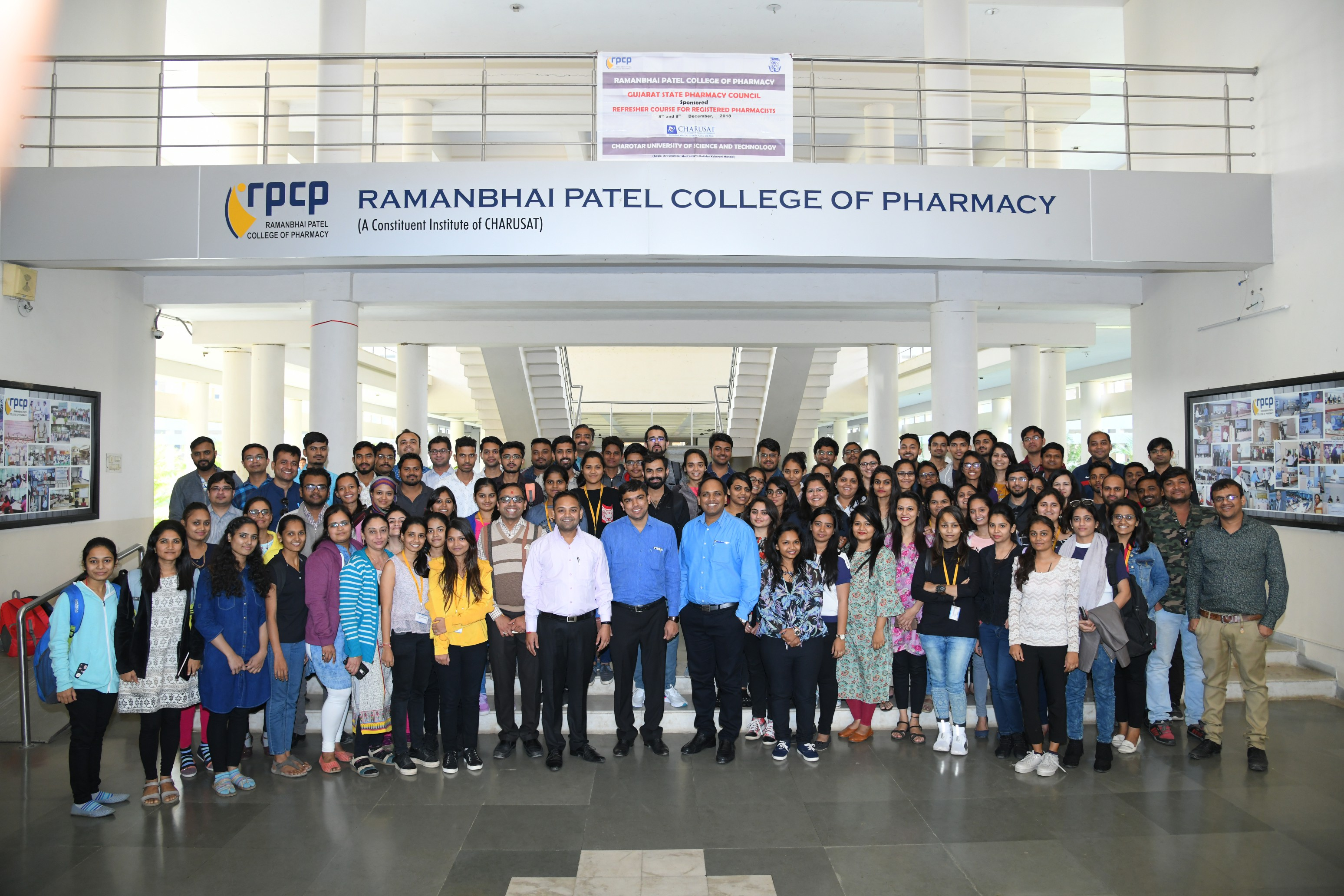 Two-day refresher course for registered pharmacists at Ramanbhai Patel College of Pharmacy, CHARUSAT