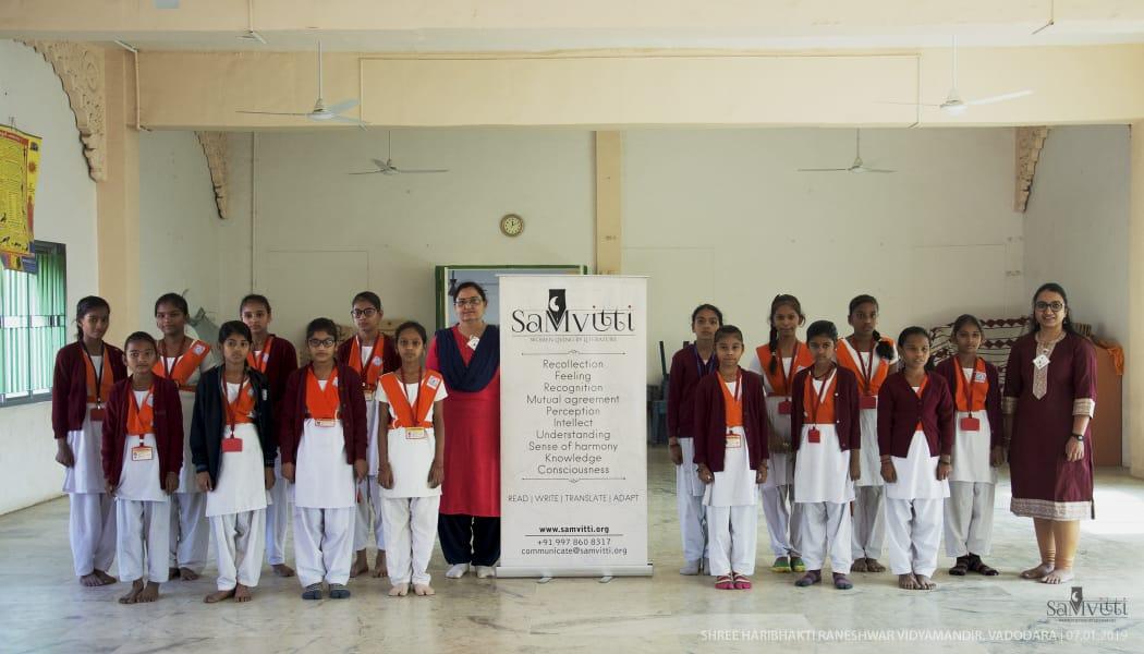 Childhood stories of Gandhiji motivate the girls of Shree Haribhakti Raneshwar Vidyamandir in Vadodara