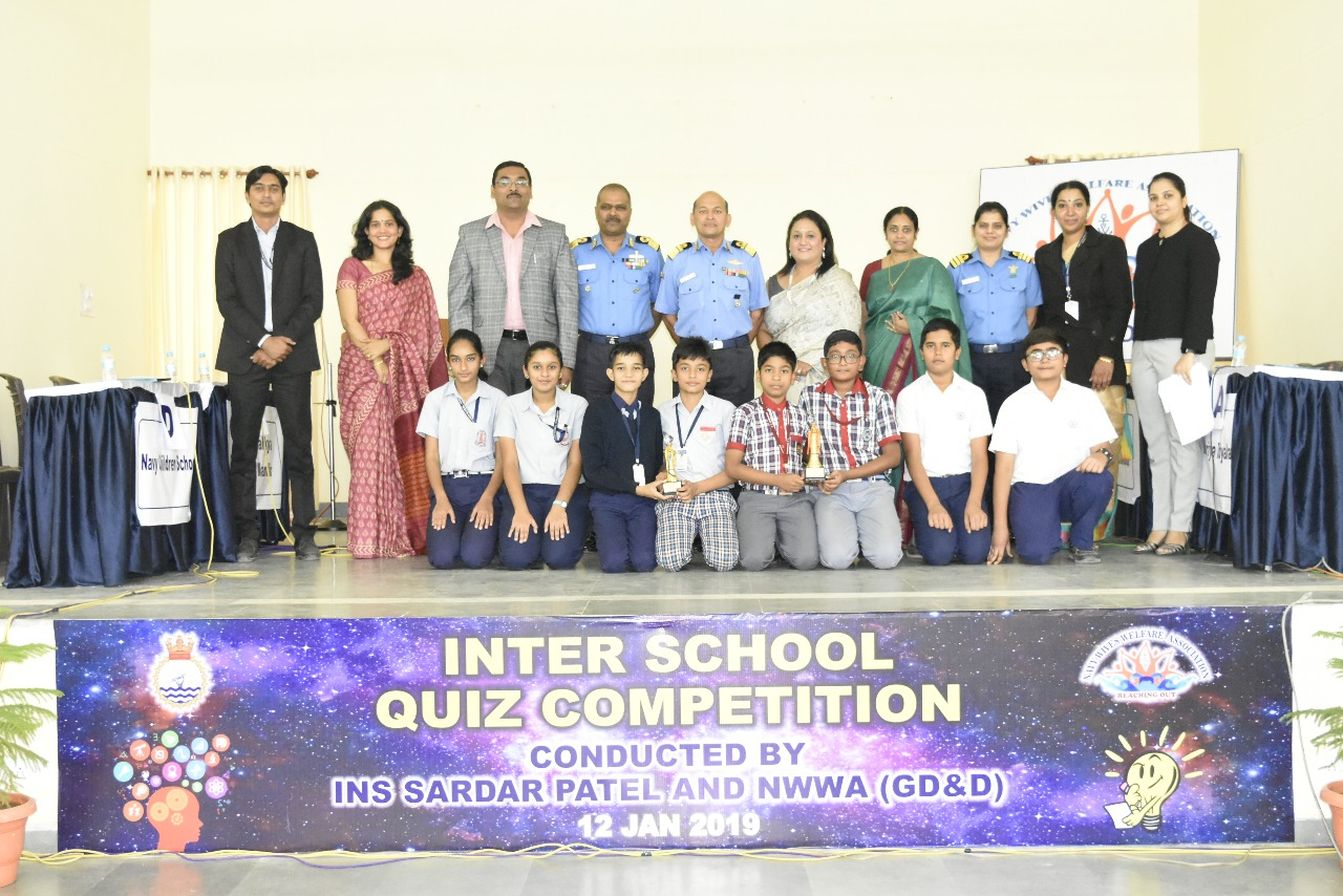 Navy week – inter School quiz competition organised at naval base, Porbandar