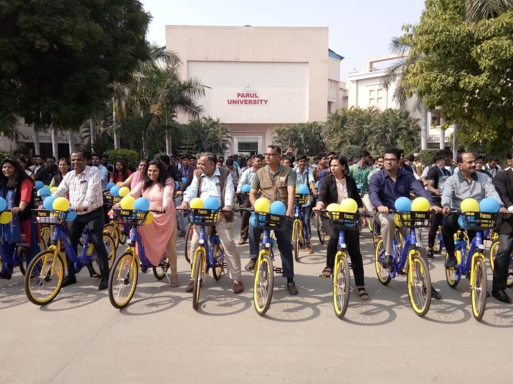 Parul University launched its own campus cycling system