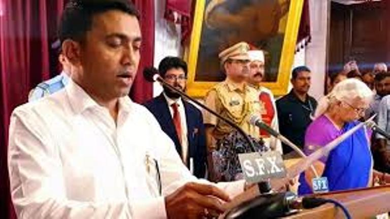 BJPs Pramod Sawant Takes Oath as Goa Chief Minister at 2am Ceremony