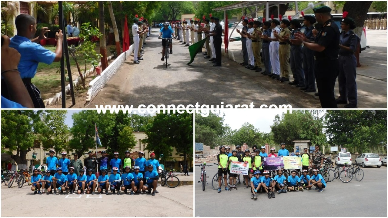 NCC group HQ Ahmedabad conducts cycle expedition